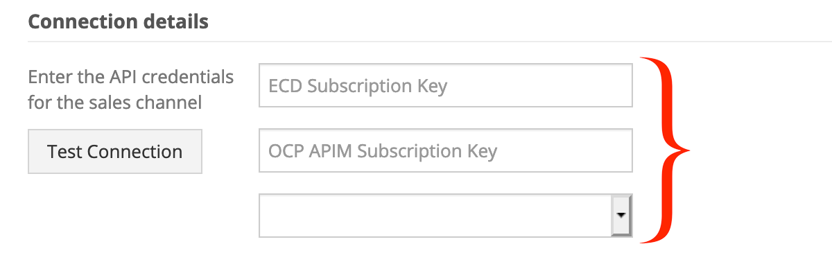 In Connection Details, enter your Ecomdash API credentials.
