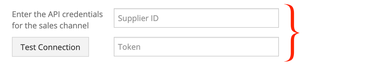 Enter your Groupon Goods API credentials.
