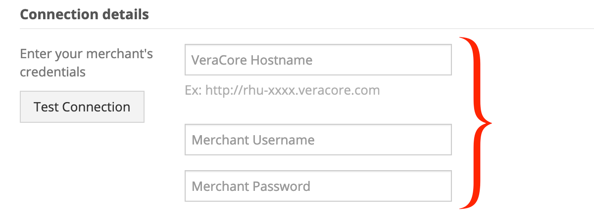 VeraCore API credentials