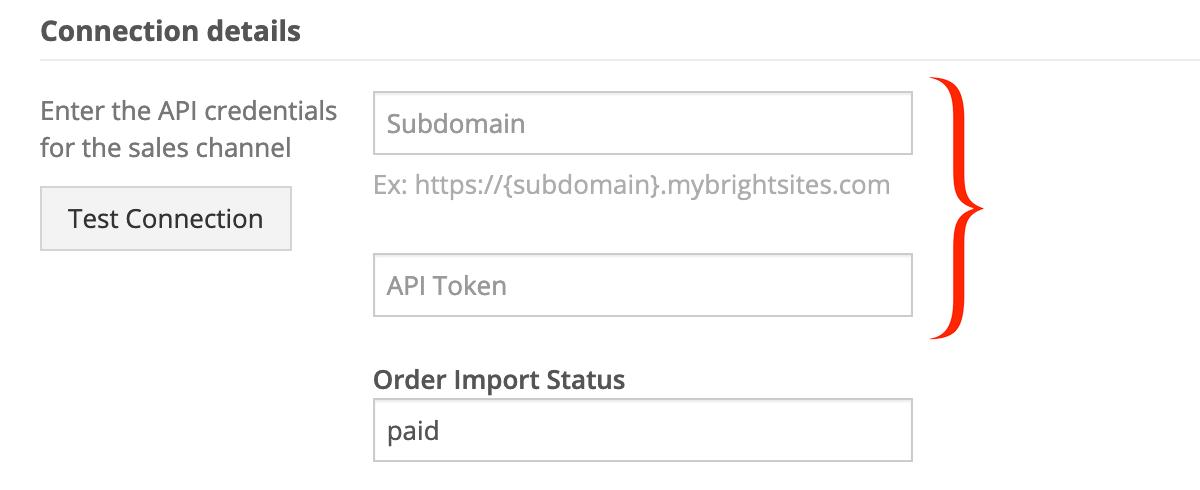 BrightStores API credentials.