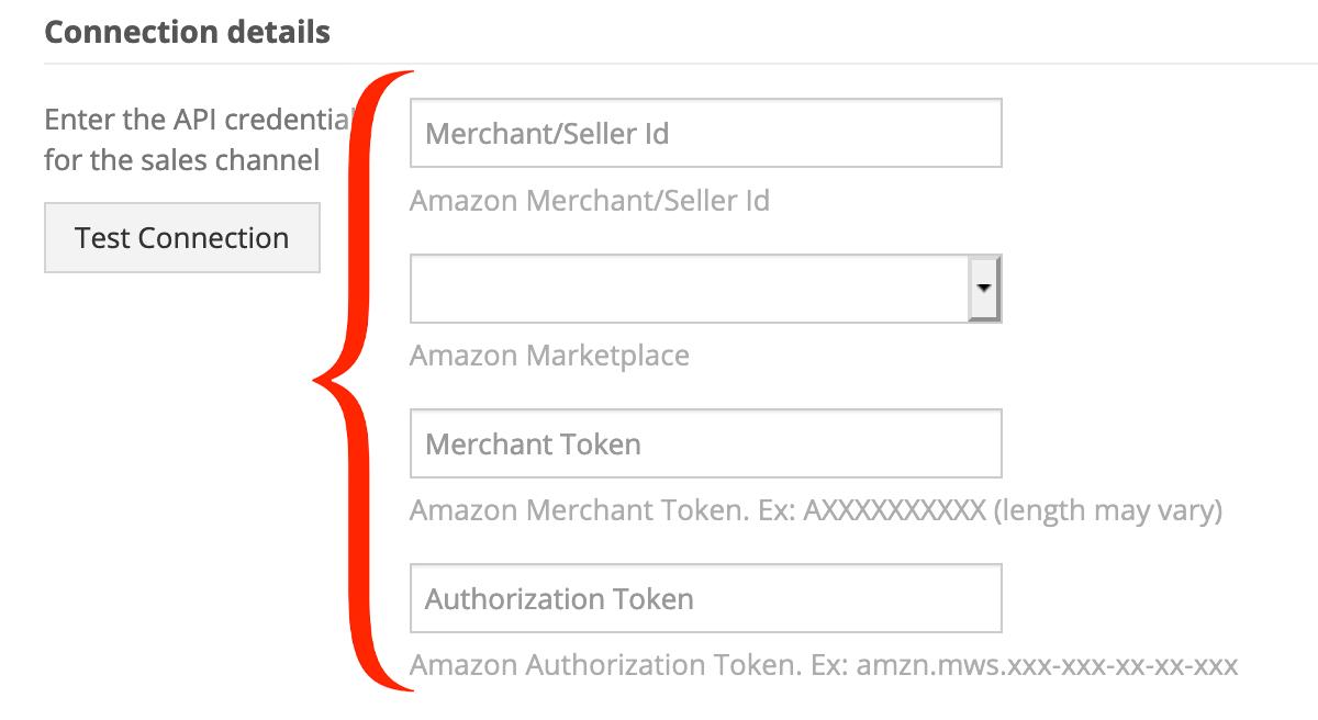 Amazon API credentials