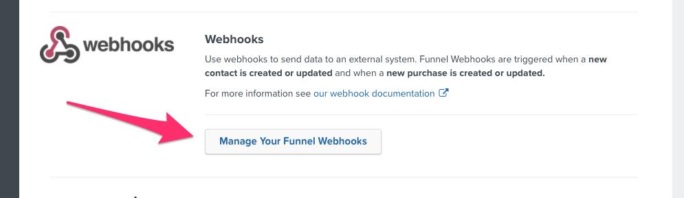 Manage Your Funnel Webhooks.