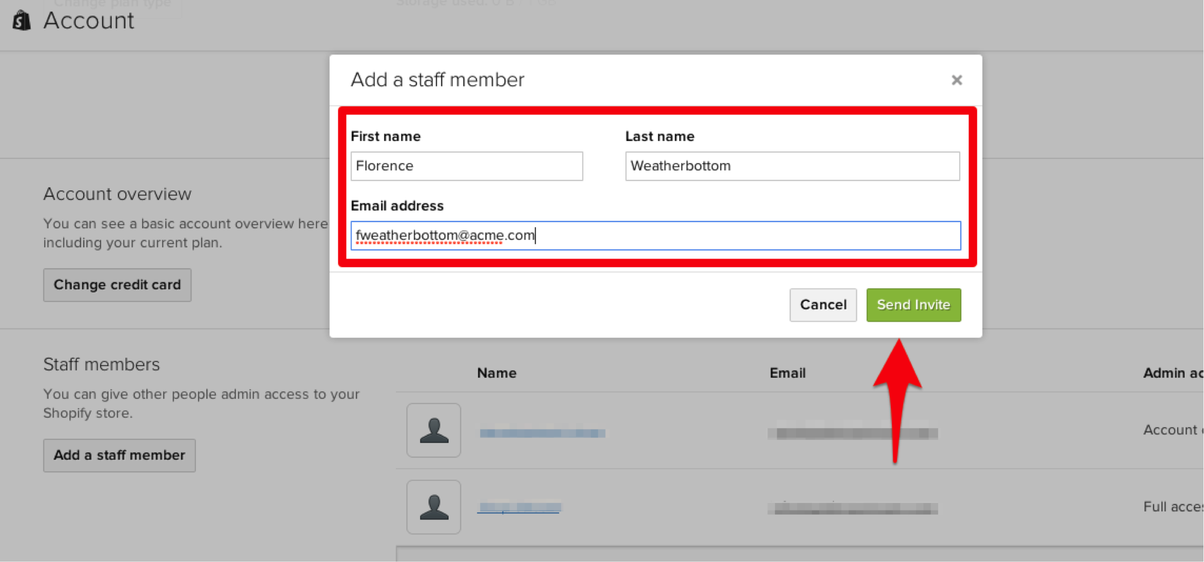 Add a Staff Member in Shopify