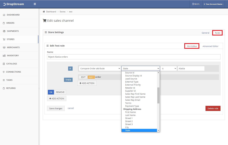 DropStream - GUI Editor