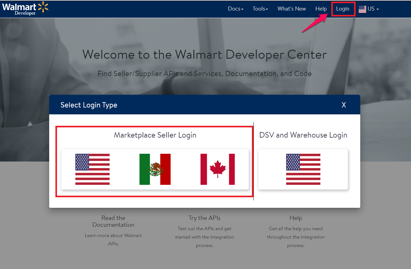 Walmart - Developer Center