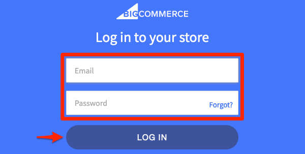 Enter credentials, and authorize the connection with BigCommerce.