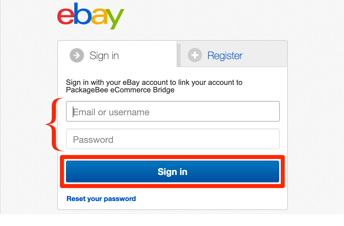 Log in to eBay.