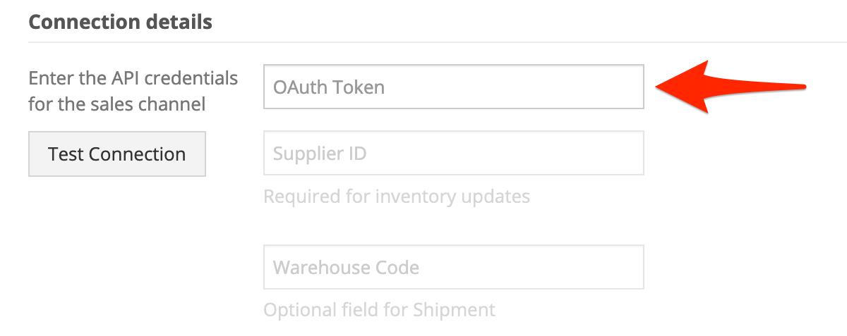 In Connection Details, enter your Dsco API credentials.