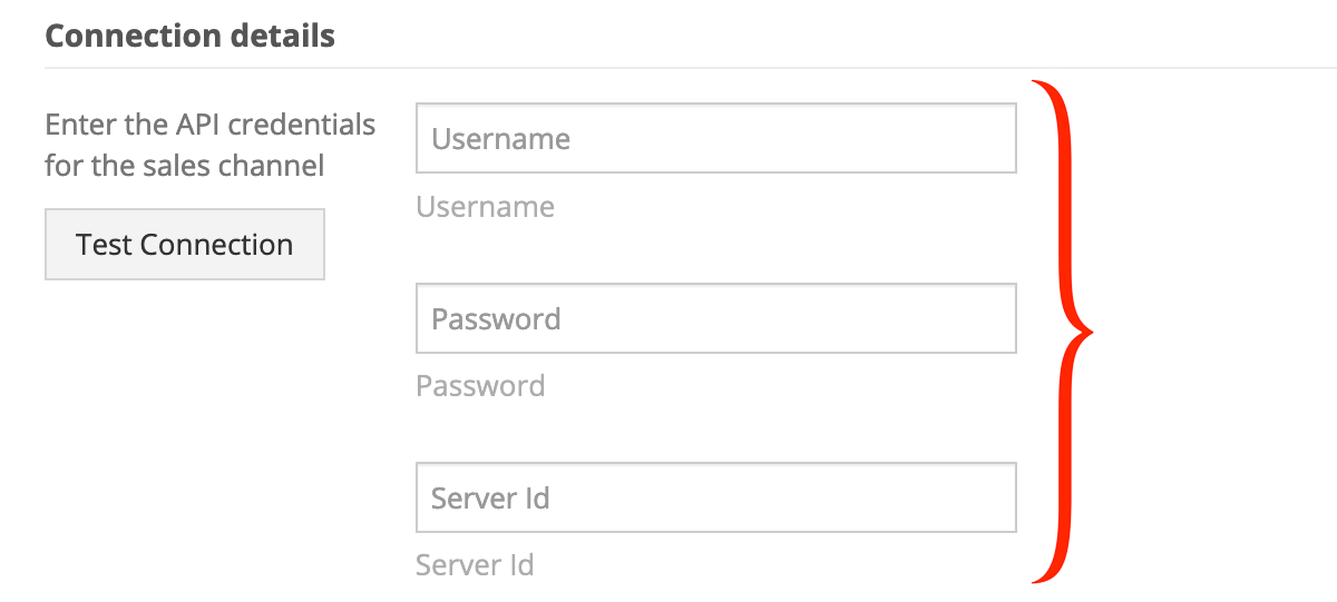 Sellercloud connection details - required